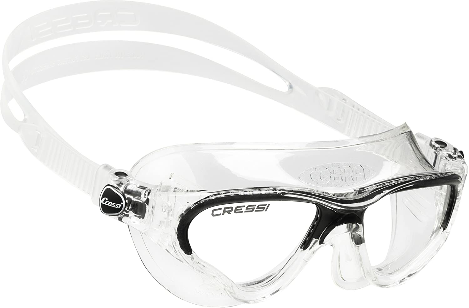 340f425ab29e Cressi Swim Cobra Swimming Goggles - Clear   Dark  Sports   Amazon.co.uk   Sports   Outdoors