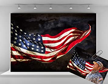 Kate 10x6.5ft 3x2m Veterans Day American Flag Photography Backdrops for Independence Day Abstract Photo Booth Backdrop Abstract Portrait Photoshoot Backdrop