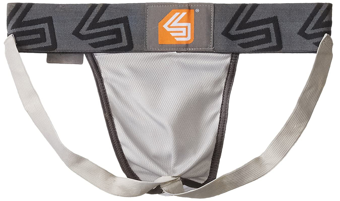 Shock Doctor Athletic Supporter Jockstrap with Cup Pocket Youth /& Adult