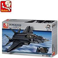 Sluban Lightning Fighter Aircraft Educational Building Block Toy 252Pcs LEGO Compatible Multi Color Smart Gift M38-B0510