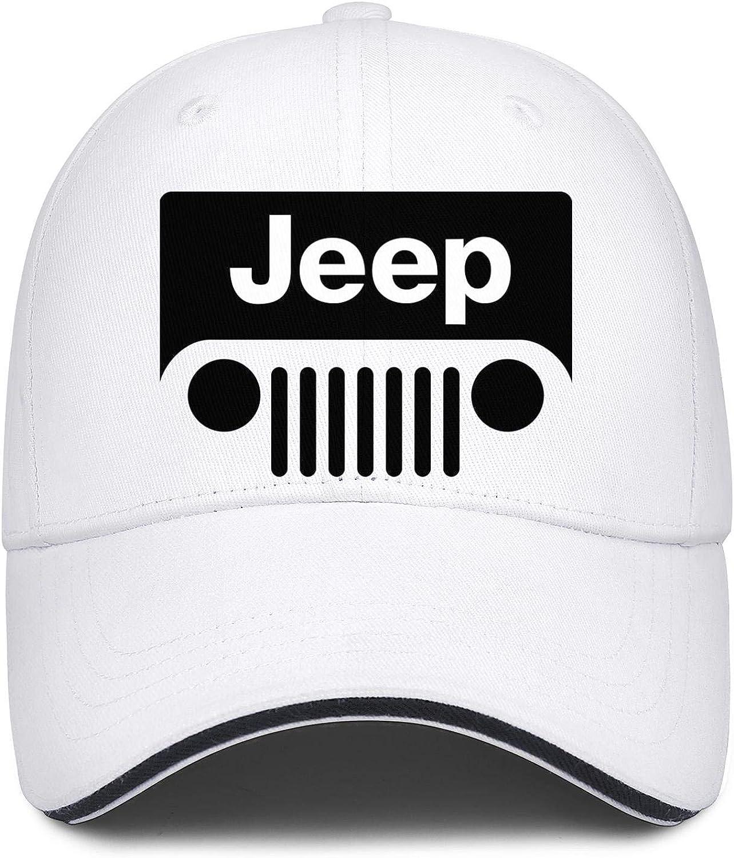 Mens Womens Trucker Hat Snapback Printed Sandwich Cap Logo