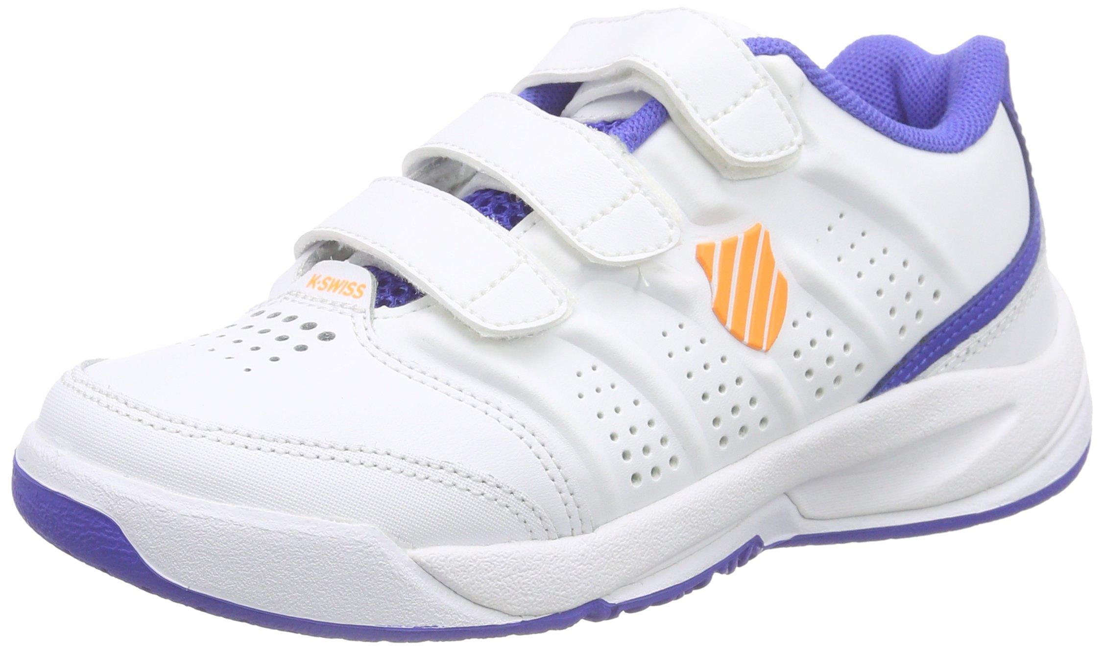 K-Swiss Ultrascendor Omni Junior Tennis Shoes, White/Blue, J12