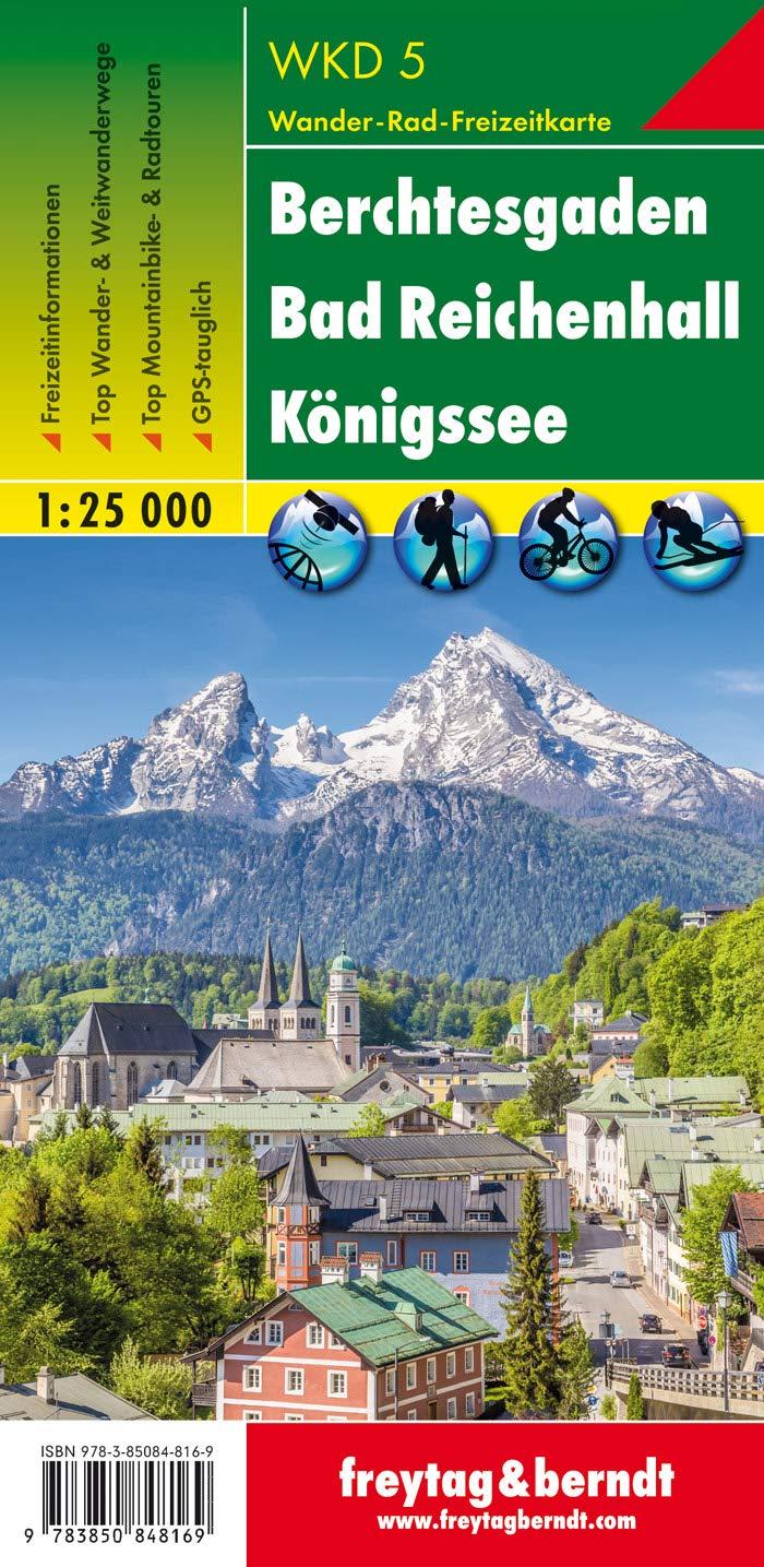 Berchtesgaden   Bad Reichenhall   Königssee Wanderkarte 1 25.000 WKD 5 Freytag And Berndt Wander Rad Freizeitkarten