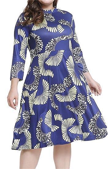 Très Chic Mailanda Plus Size Dresses Feather Print Women\'s Long ...