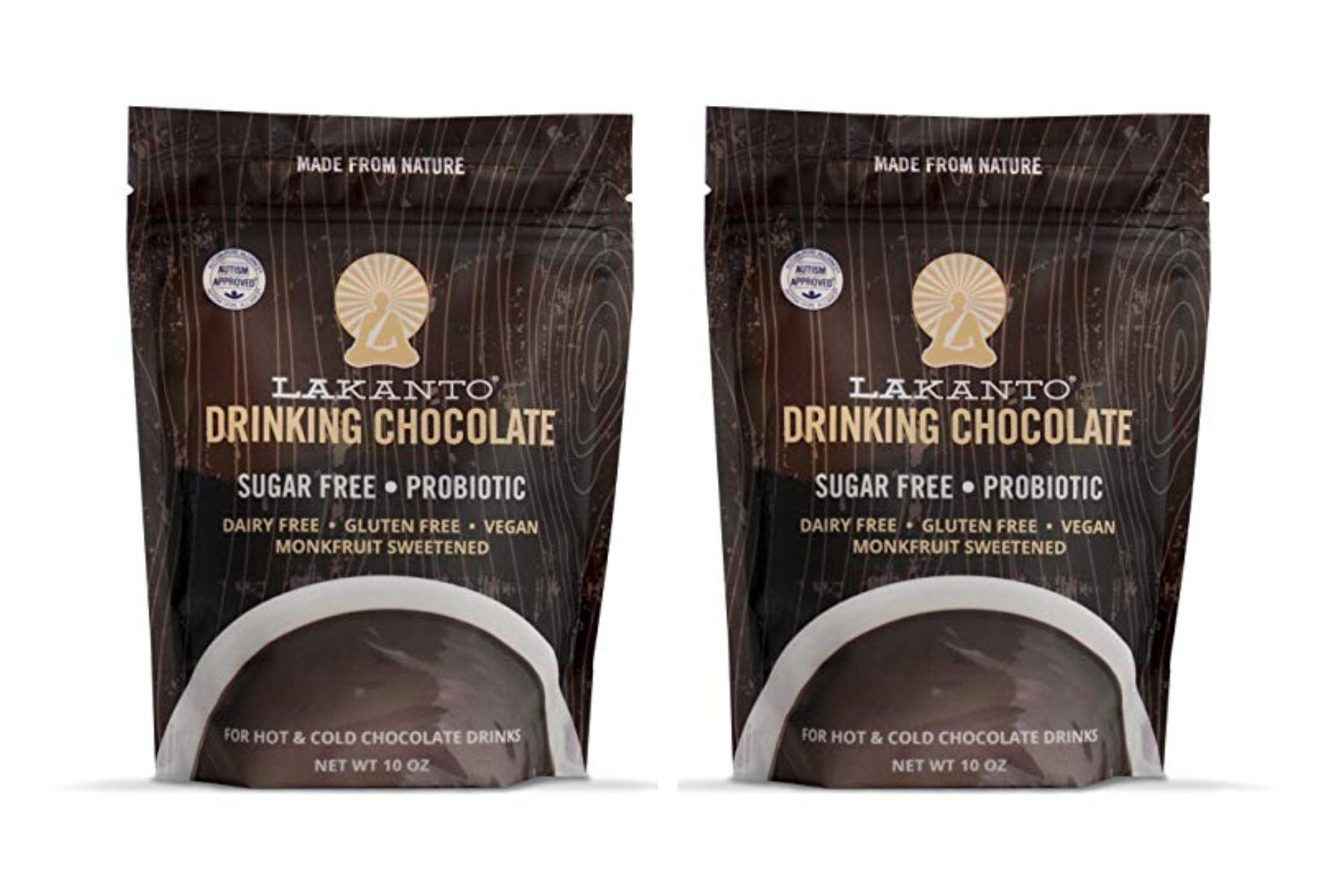 Lakanto Drinking Chocolate, 1 Net Carb, 10 Ounce (Pack of 2) by Lakanto