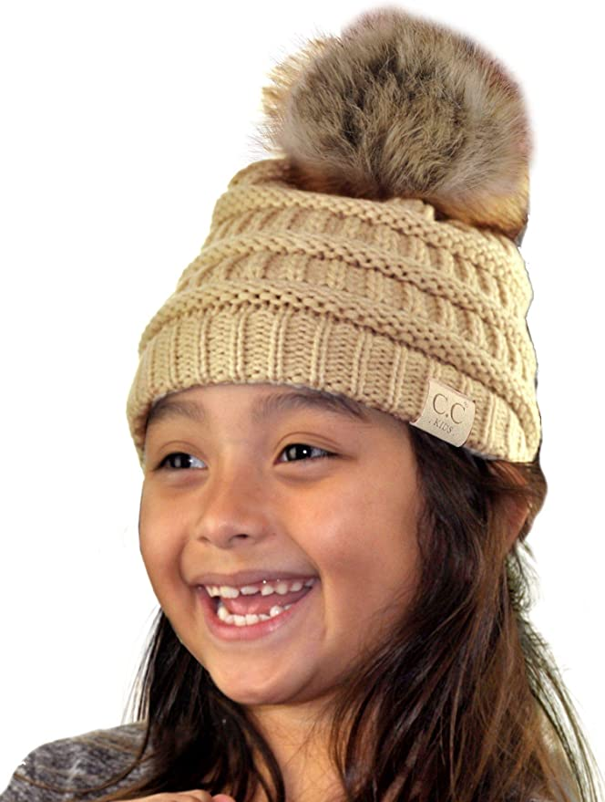 CC Beanies Kids Cable Knit Winter Hat Toboggan 4 Colors To Choose From NWT