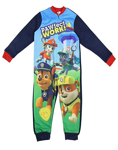 Amazon.com  Paw Patrol Boys Licensed Ryder Chase Marshall Micro Fleece  Onesies Age 2 to 6 Years  Clothing 36fce4873