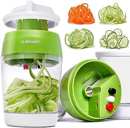 Spiralschneider Hand Gemüsespaghetti Gemüsehobel für Gurke Kartoffel