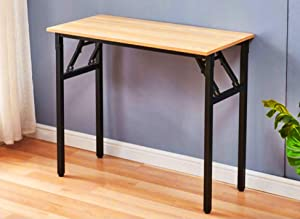 """31"""" Folding Commercial Table Training Table Folding Computer Desk Workstation Folding Laptop Table,Home Office Desk, No Assembly Needed,Bown"""