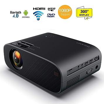 HD proyector de vídeo, proyector LED 1080p HDMI MAX 300