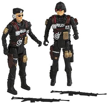 ColorBaby - Set de 2 Figuras policía, 20 cm (37143): Amazon ...