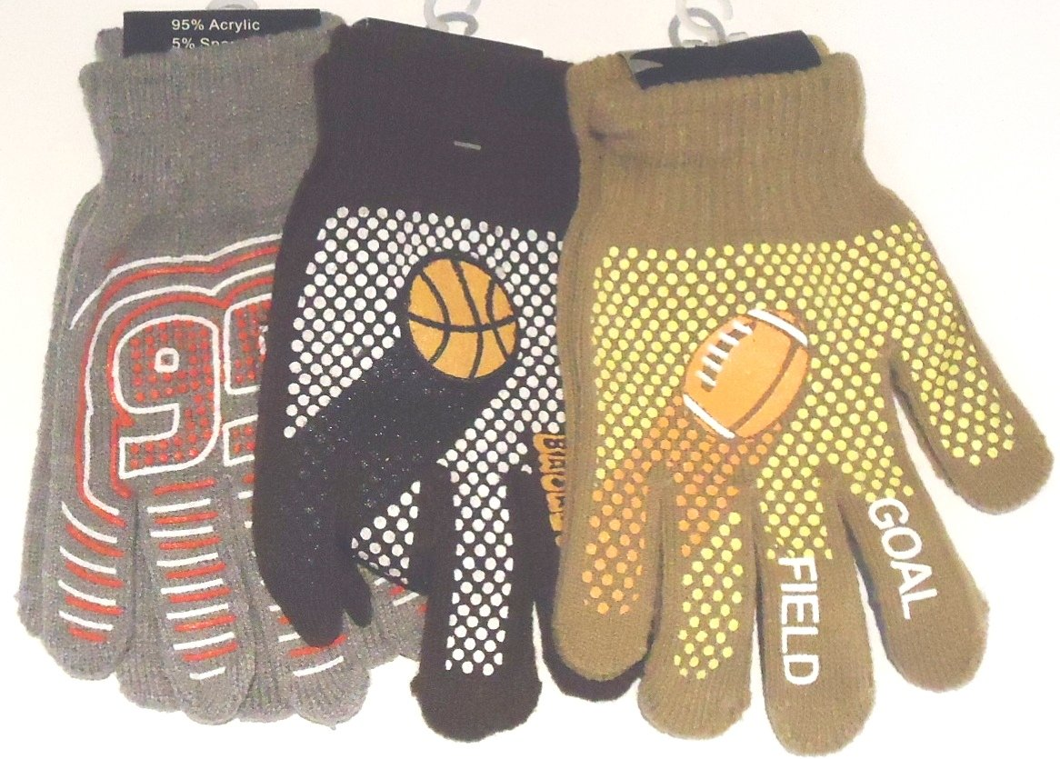 Three Pairs Polyester Spandex One Size Bubu Athletic Gloves