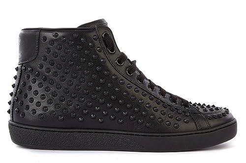 Gucci scarpe sneakers alte donna in pelle nuove miro nero  Amazon.it  Scarpe  e borse e3b2fcea0ff6