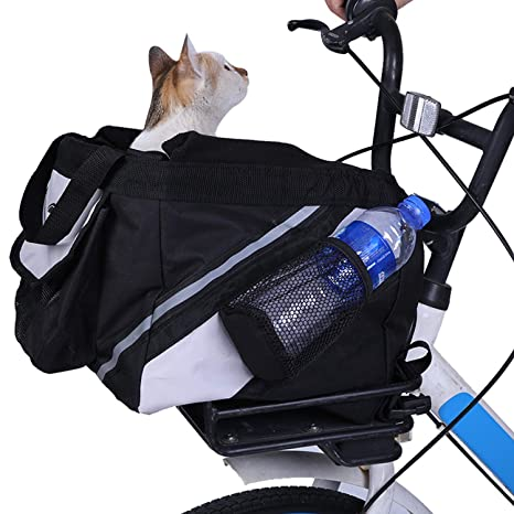e3dc3799d12a LEMKA Pet Carrier Bicycle Basket Bag Pet Carrier/Booster Backpack for Dogs  and Cats with Big Side Pockets(15