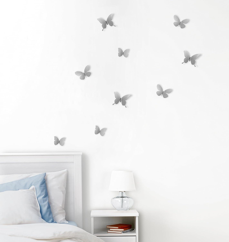 Charming Amazon.com: Umbra Mariposa Metal Wall Decor, Nickel, Set Of 9: Home U0026  Kitchen
