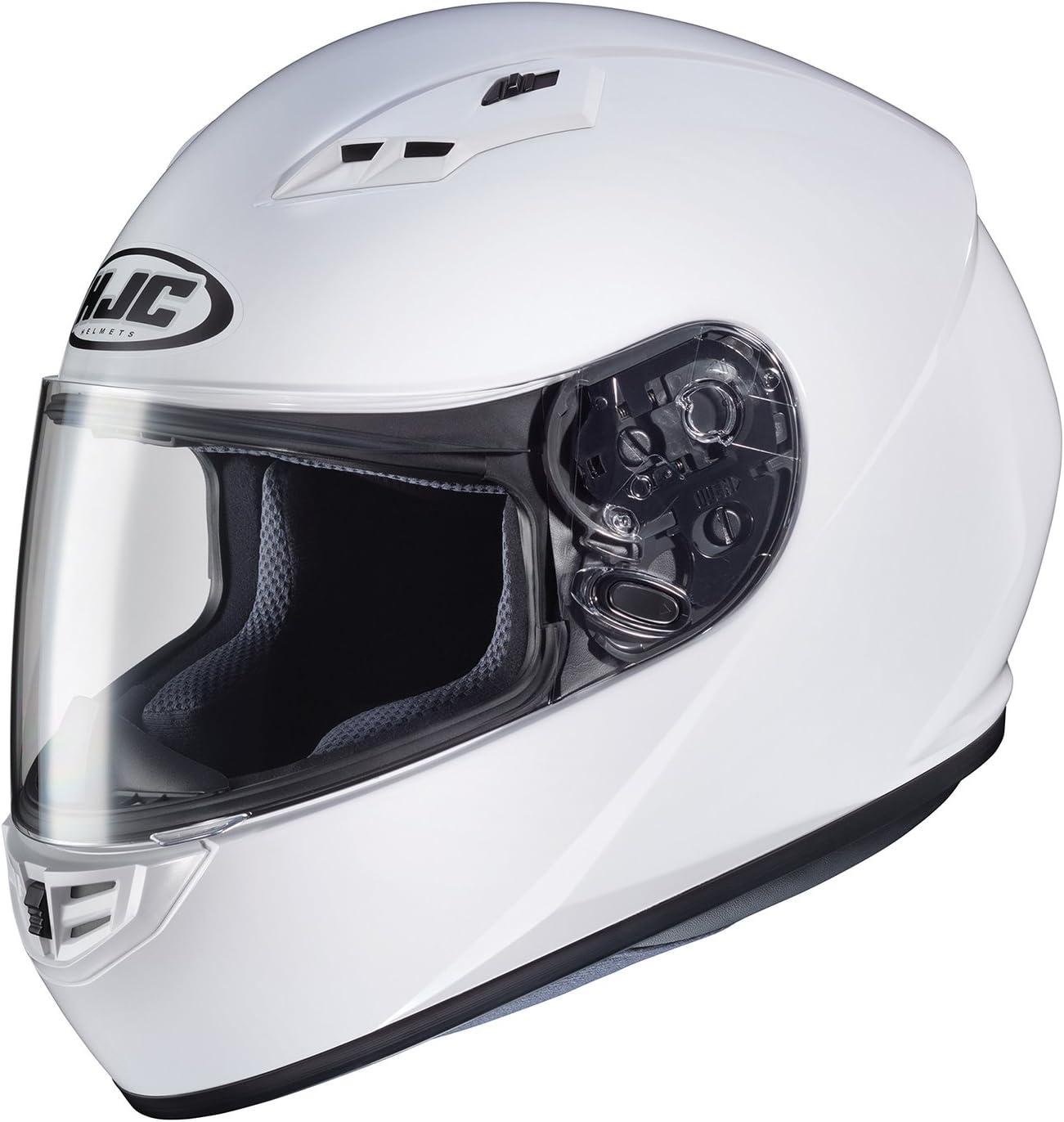 HJC Helmets CS-R3 Unisex-Adult Full Face Solid Motorcycle Helmet White, Medium