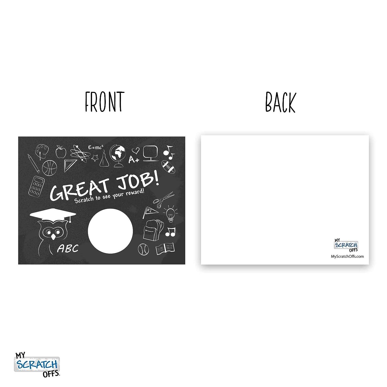 My Scratch Offs Teacher Rewards Scratch Off Cards 50 Pack DIY Kit