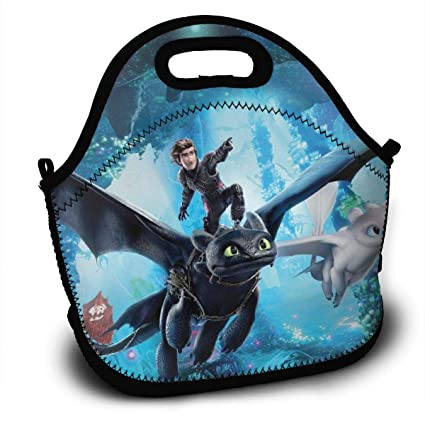 a0c337af0f2a Amazon.com - Sunmoonet Lunch Tote Bag How to Train Your Dra-gon 3 ...