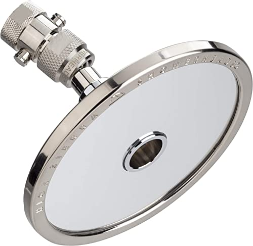 High Sierra's NEW Reflections Shower Head and Fogless Shaving Mirror In One. Made of Solid Aluminum that Naturally Heats Up While Showering. Guaranteed to Never Fog