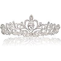 Makone Crystal Tiara Crown Headband