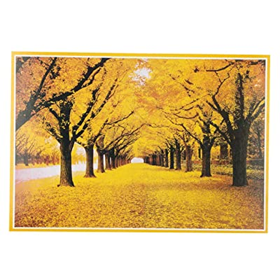 1000 Piece Jigsaw Puzzle for Adults & Kids - Autumn Leaves Landscape Educational Assembling Toys - Developing Fine Motor Skills, Memory, Shape & Color Sorting - Gift for Birthday & Mother's Day: Toys & Games