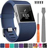 TreasureMax For Fitbit Surge Bands, Adjustable Replacement Accessories Straps for Fitbit Surge Watch Fitness Tracker WatchBand Wristband