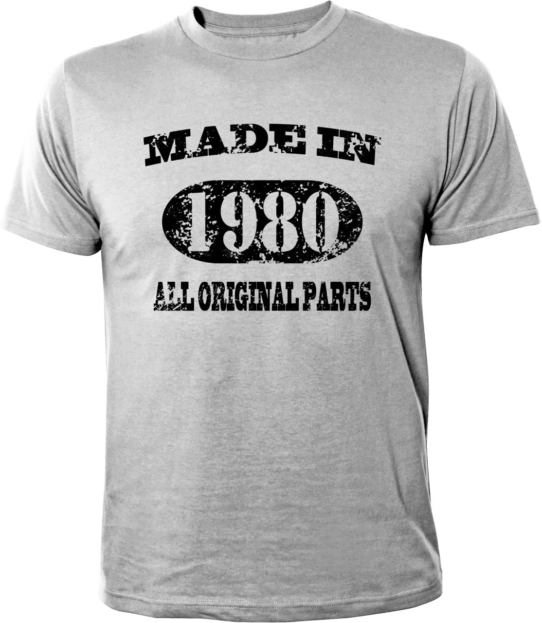 Mister Merchandise T-Shirt 34 35 Made in 1980 All Original Parts Years Jahre Geburtstag - Camiseta para Hombre S-XXL - Muchos Colores: Amazon.es: Deportes y aire libre