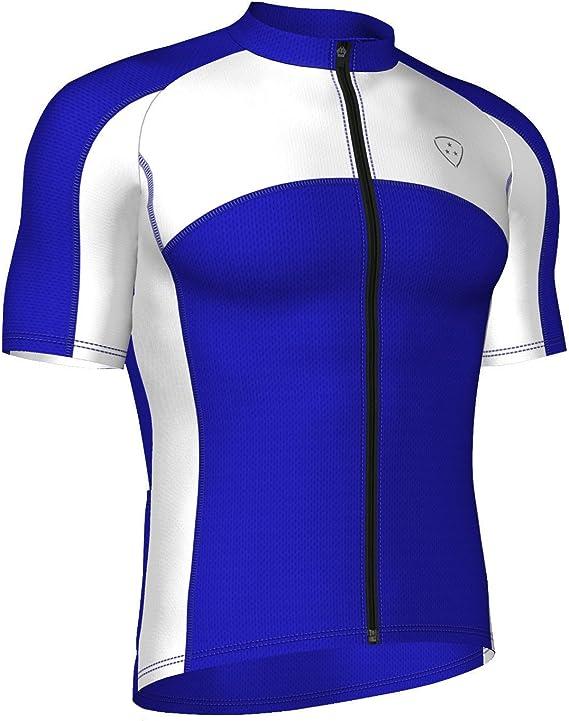 Imagen deDeporteshera - Ropa Ciclismo, Maillot Mangas Cortas, Camiseta Ciclismo, Color Rojo/Negro