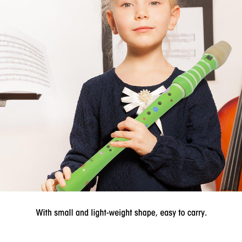 Dilwe 4 Colores Ligero Educativo Flauta de Madera Juguete para Ni/ños Principiante