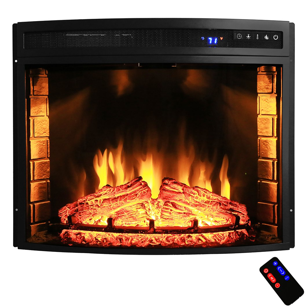 "AKDY 28"" Black Electric Firebox Fireplace Heater Insert ..."