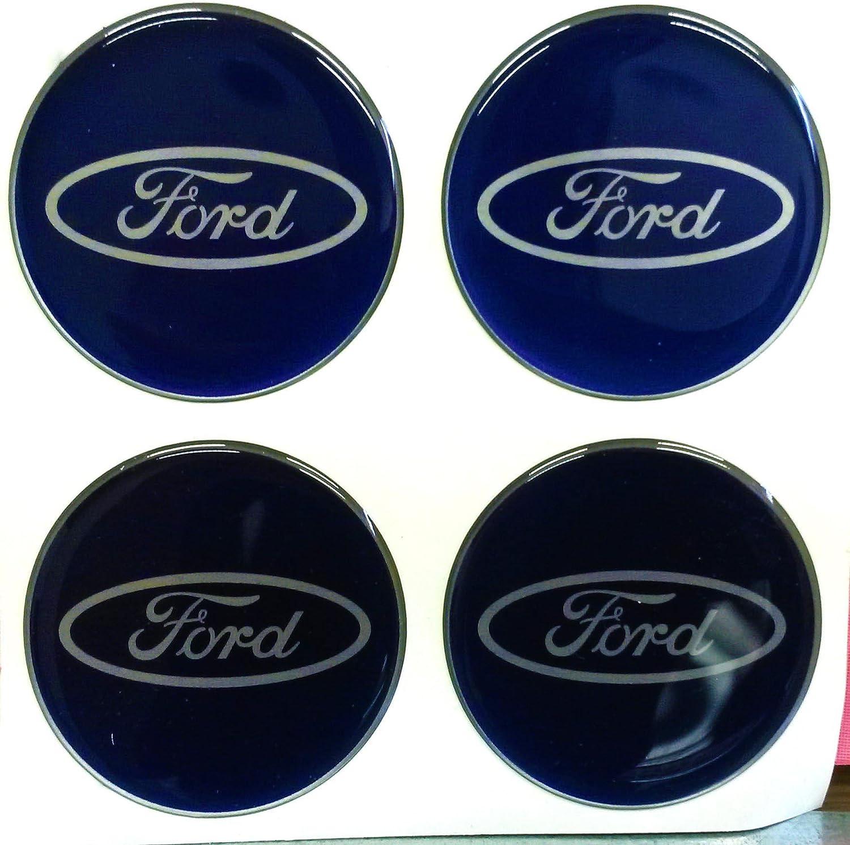 Resina Pegatinas para llave de coche efecto 3d Kit de 4/unidades de 1,5/cm Ford WRC Fiesta Focus Escort Kuga C MAX KA