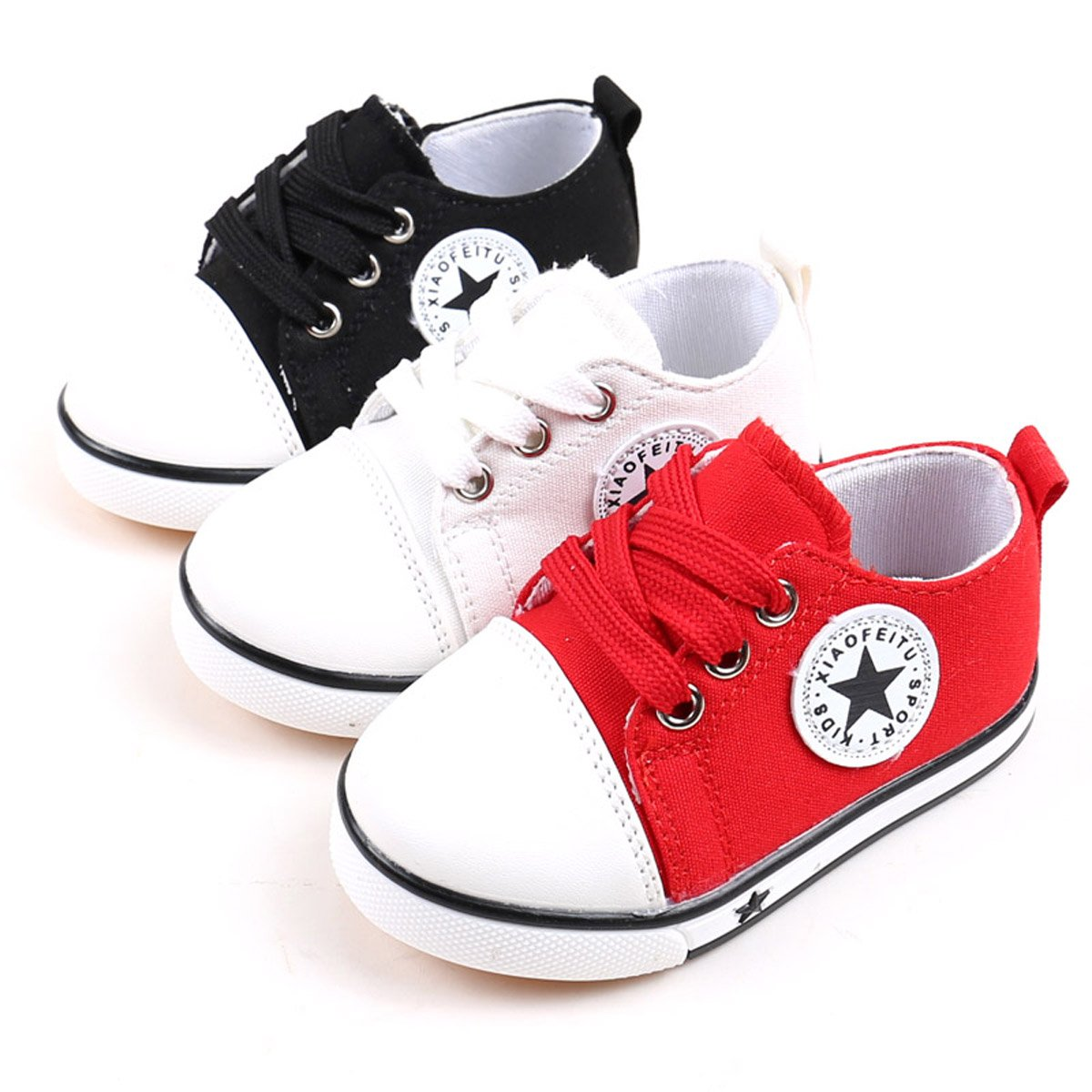 Tutoo Unisex Baby Boys Girls Shoes Kids Canvas Toddler Child Soft Sole Fashion Sneakers