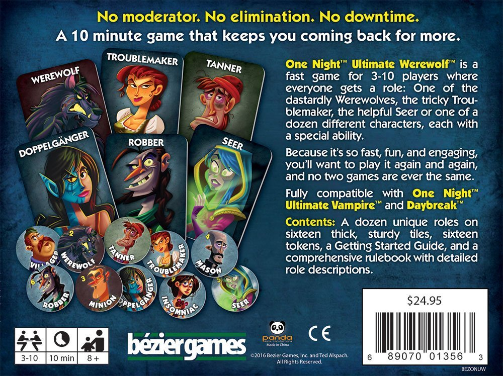 Bezier Games One Night Ultimate Werewolf by Bezier Games (Image #2)
