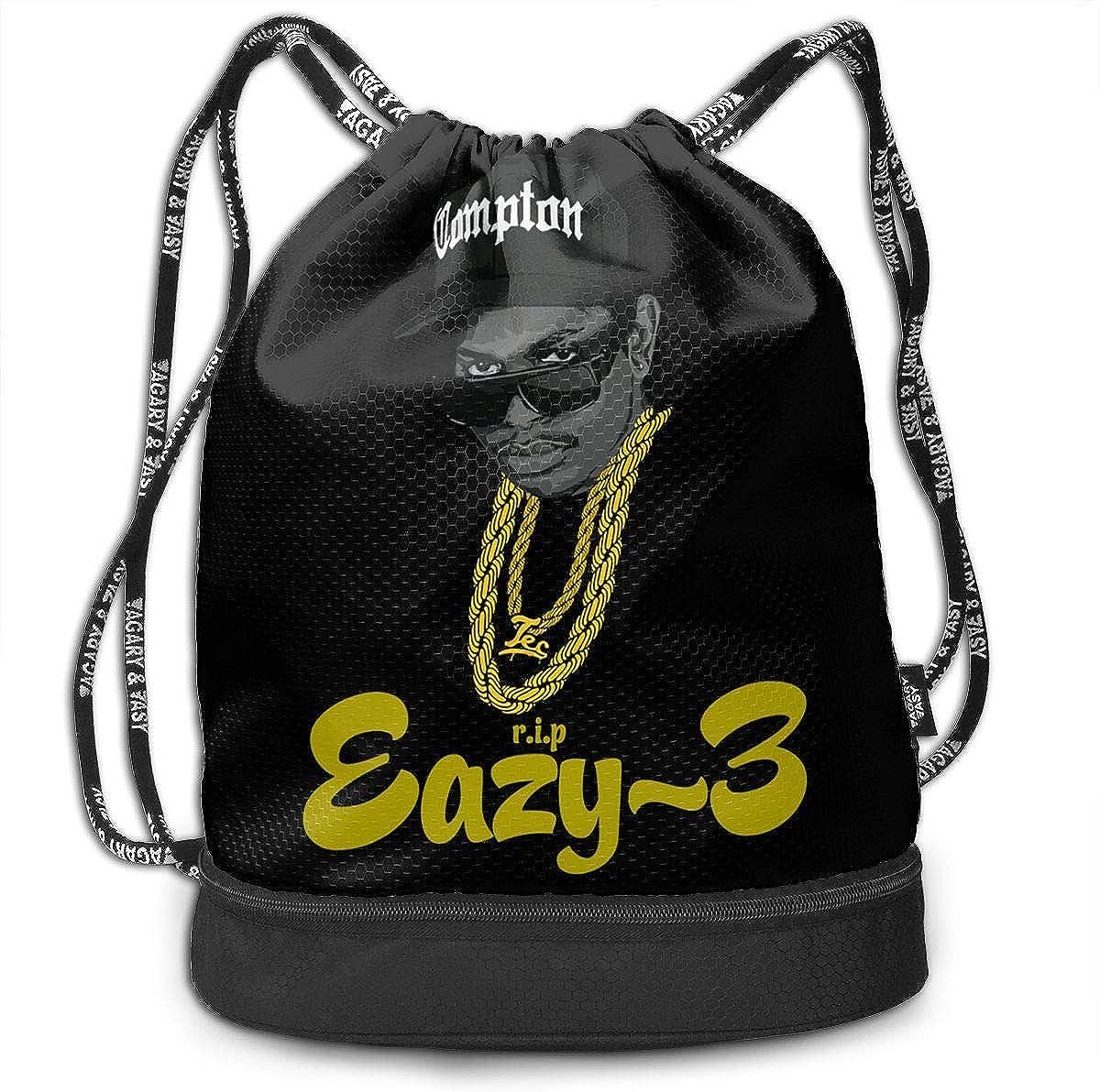 AgoodShop Eazy E-Godfather Of Gangsta Rap Drawstring Backpack Sport Gym Travel Bag