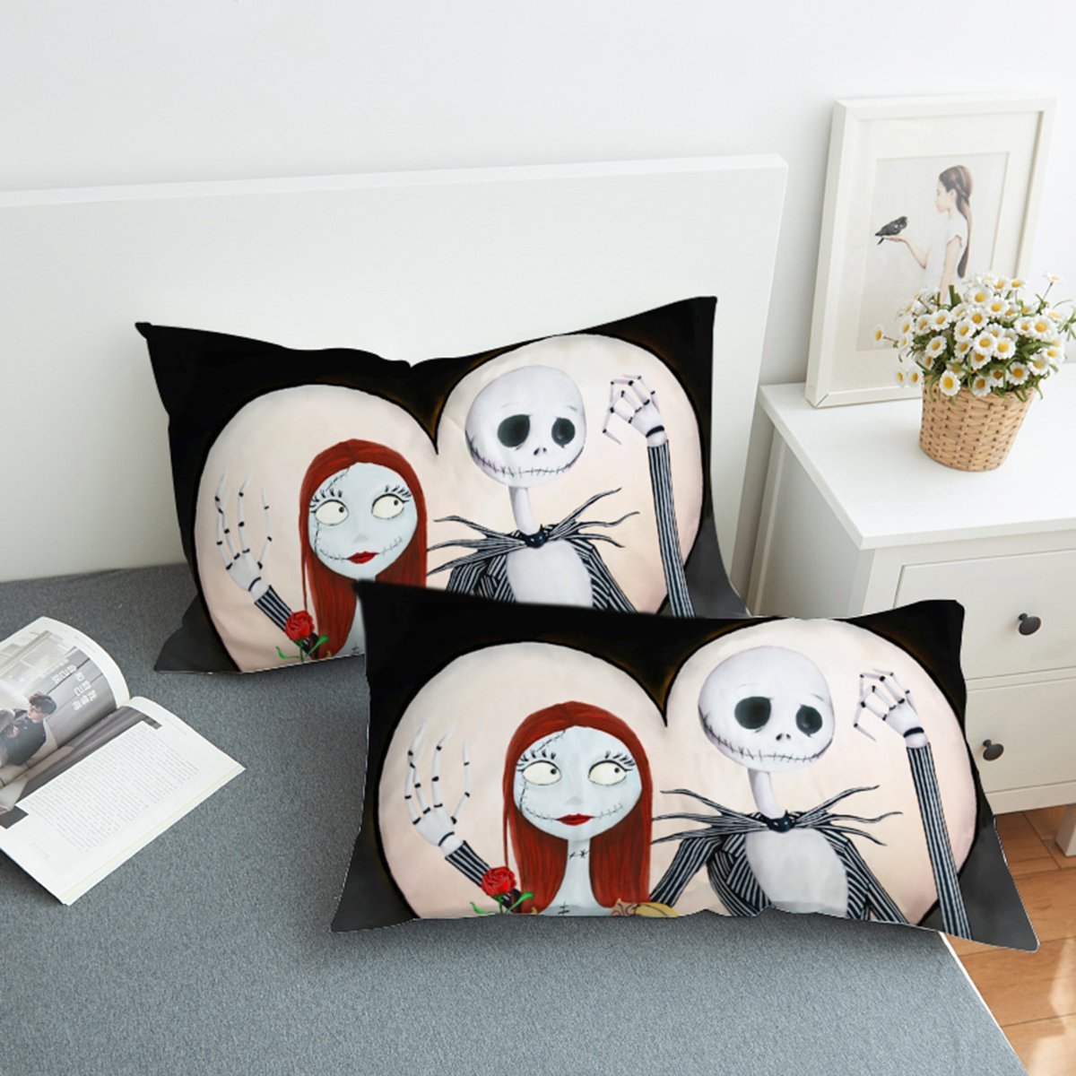 Amazon Com Koongso Nightmare Before Christmas Pillow Case For Home