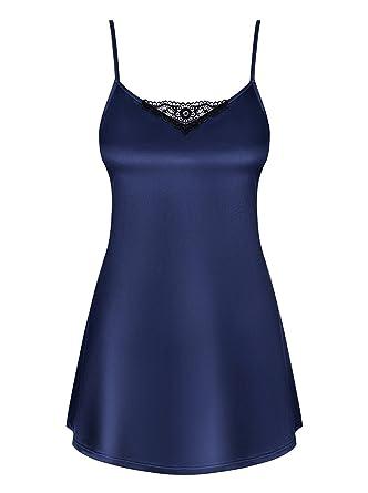 d0b3d84ed8 Amocarat SA Obsessive Thong And Satinia Babydoll Dark Blue  Amazon.co.uk   Clothing