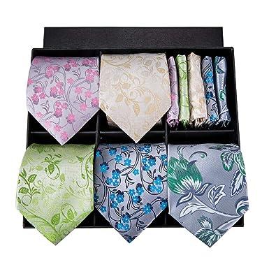 Corbatas de seda 100% para hombres Corbatas Pañuelos Gemelos ...