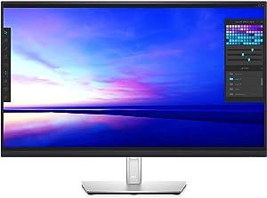 Dell P3221D 32 Inch 1440p QHD, IPS Ultra-Thin Bezel Monitor, HDMI, DisplayPort, USB-C, VESA Certified, Black (Renewed)