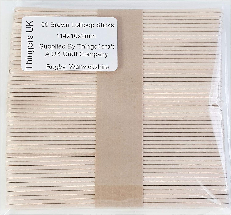 Craft Planet natural wood wooden Lolly lollipop sticks standard size pack of 50