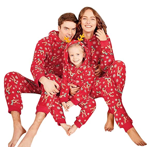 BaZhaHei Reno Capucha Romper Mono Pijamas de Familia Ropa de ...