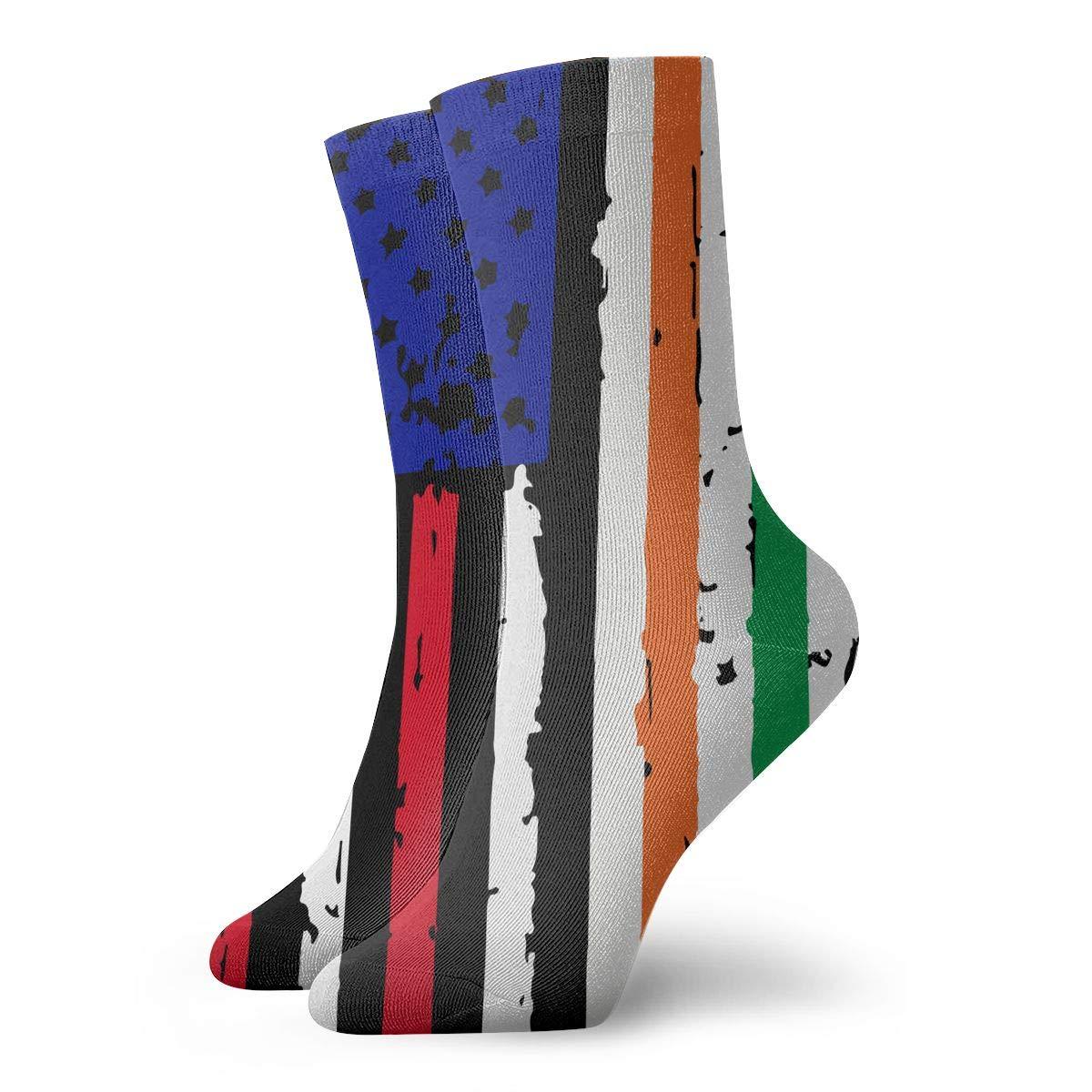 Adult Irish American USA Flag Pride Athletic Ankle Socks