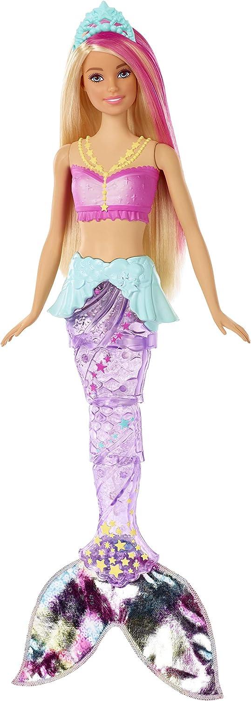 Barbie Dreamtopia, Sirena rubia nada y brilla con accesorios, regalo para niñas y niños 3-9 años (Mattel GFL82)
