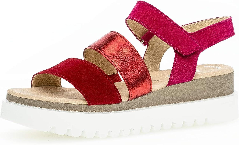 Gabor 23.610 Mujer,Sandalias de cuña,Sandalias,Sandalias de cuña,Zapatos del Verano,cómodo,Plana,Best Fitting