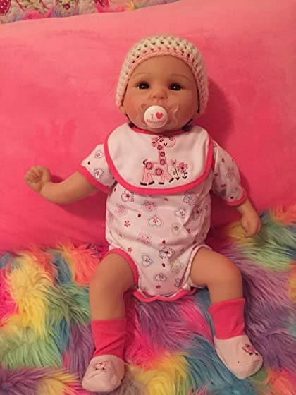 Paradise Galleries Reborn Baby Doll Lifelike Realistic Baby Doll, Tall Dreams Gift Set Ensemble, 19-inch Weighted Baby, for Ages 3+ Great doll but one arm is backwards.