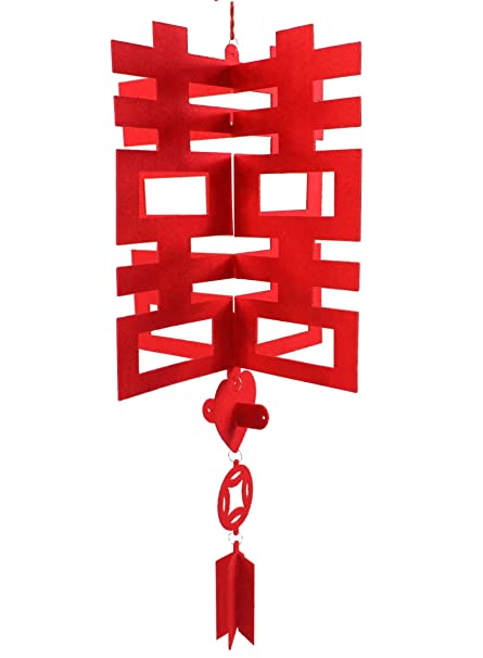 Amazon double happiness traditional chinese wedding double happiness traditional chinese wedding decoration hanging home decor 2 junglespirit Images