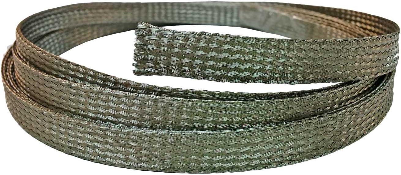 "1//2/"" Stainless Steel Braided Sleeving 304SS 25 Feet Length"
