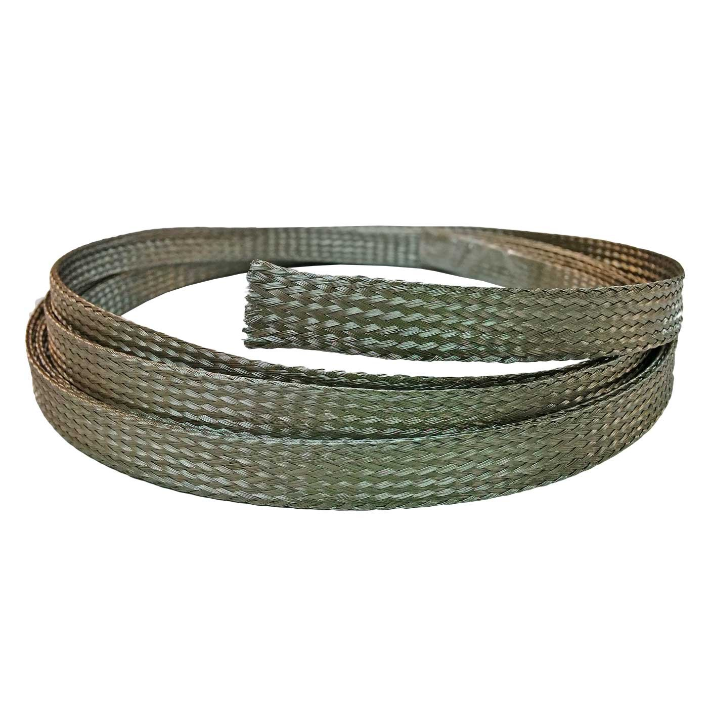 Length Electridct 1 Stainless Steel Braided Sleeving 50 Feet 304SS