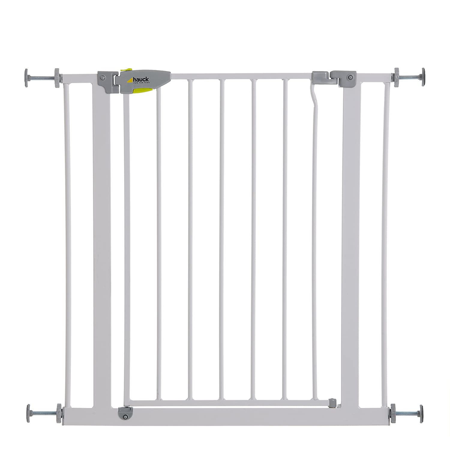 Hauck Squeeze Handle Pressure Fix Safety Gate, White 597125