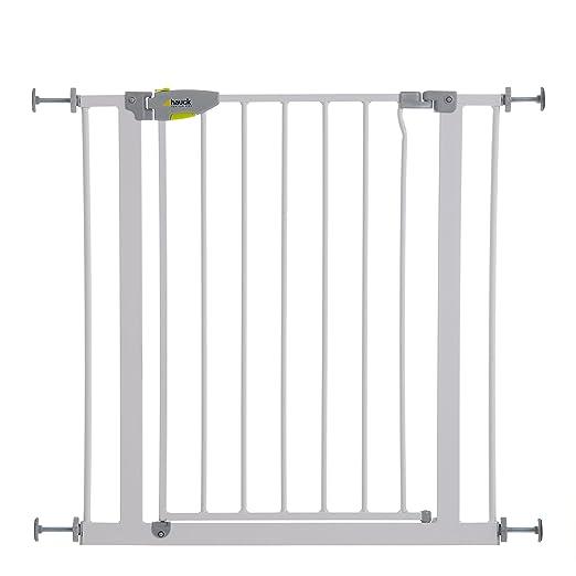 Hauck 597125 Squeeze Treppen- / Tür- schutzgitter für Kinder, Hunde und Katzen, Befestigung ohne Bohren, zum Klemmen mit Tür,