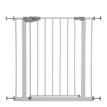Hauck Squeeze Handle Pressure Fix Safety Gate White Amazon Co Uk Baby